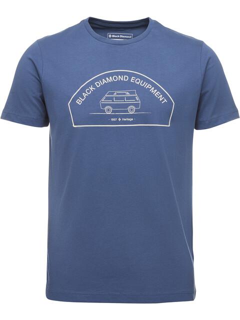 Black Diamond Rock Van - T-shirt manches courtes Homme - bleu